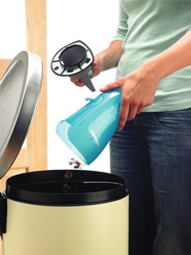 Black + Decker 9,6 V Nass Trocken Akku-Hand-und Staubsauger Dustbuster, Ladestation, weiß / transparent / blau, WD9610N - 6