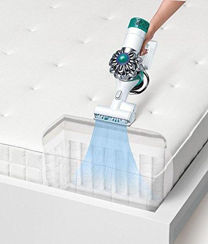 Dyson v6 Mattress Handstaubsauger mit 2 Saugstufen 20 Min Laufzeit Elektrobürste für Matratzen Dyson Digitaler Motor v6, 21,6 V Nickel-Mangan-Cobalt Akku, ohne Beutel, 350 W - 3